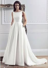 simple wedding dresses for brides 2016 new style custom made satin simple wedding dresses with