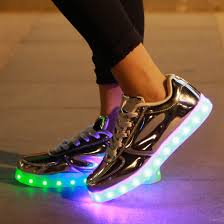 led light up shoes 7 color changing led chargeable light up shoes unisex silver