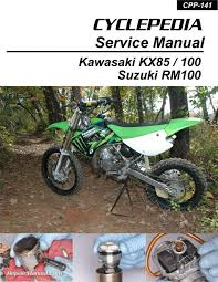 kx85 kx100 suzuki rm100 cyclepedia printed motorcycle service manual