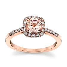gold and morganite ring blossom bridal 14k gold morganite diamond engagement ring 1 5