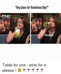 Me On Valentines Day Meme - me any plans for valentines day etfoxybi table for one wine for 4