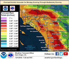 rainfall totals map heavy rainfall expected tuesday in san diego kpbs