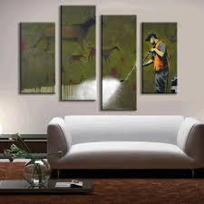 online get cheap wall mural banksy aliexpress com alibaba group 4 pcs set banksy art ancient mural oil painting prints wall art home decor fashion