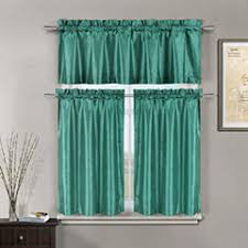 blue kitchen curtains for window jcpenney