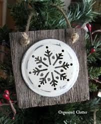 easy rustic snowflake ornaments snowflake ornaments barn wood
