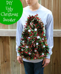 christmas tree sweater with lights diy ugly christmas sweater idea tree with working lights