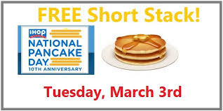 Get Free Pancakes At Participating National Pancake Day Is On Tuesday March 3rd 2015 And To Celebrate