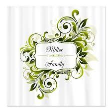 Swirl Shower Curtain Makanahele Com Personalized Monogram Green Floral Swirl Shower