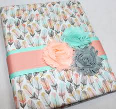 baby girl memory book baby journal feathers arrows baby memory book baby girl