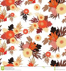seamless fall flower pattern on white background autumn flower