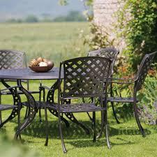 Aluminium Garden Chairs Uk Bramblecrest Rome 6 Seat Oval Cast Aluminium Garden Furniture Set