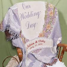 personalized wedding blanket embroidered wedding blanket giftsforyounow