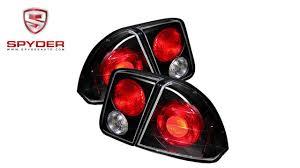 2001 honda civic tail lights spyder honda civic 01 05 4dr euro style tail lights black youtube