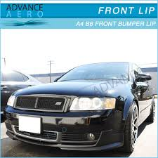 audi b6 kit for 2002 2005 audi a4 b6 poly urethane front bumper lip spoiler