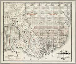 Map Of San Francisco by Railroad Map Of The City Of San Francisco California 1864 David
