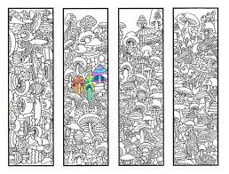 coloring pages bookmarks coloring bookmarks mushroom bookmark coloring page for