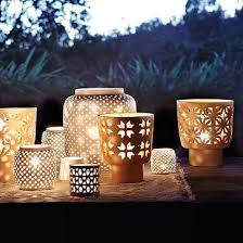 west elm outdoor lighting i love candle holders that show light through them like these for