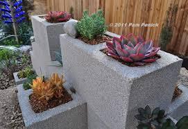 make a cinderblock wall planter diggingdigging