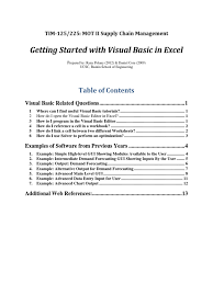 visual basic advanced tutorial tim125 225 getting started in visual basic basic microsoft excel