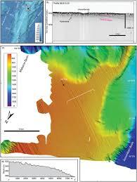 Arctic Ocean Map Submarine Glacial Landform Distribution In The Central Arctic