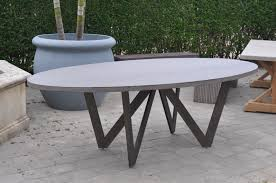 bumble outdoor oval dining table mecox gardens