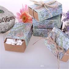 Map Favors by Around The World Map Favor Boxes Traveling Theme Wedding Box