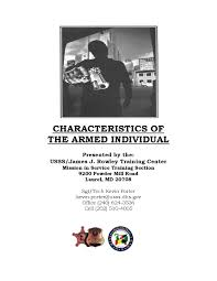 u s secret service training guide characteristics of the armed