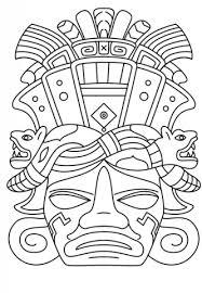 imagenes mayas para imprimir dibujo de máscara maya para colorear dibujos para colorear