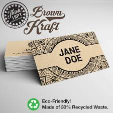 business card stock paper brown kraft business cards printed in color on light brown