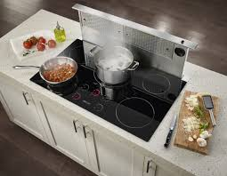 Kitchen Islands With Cooktops by Design Modern Element Glass Ceramic Cooktop Stainless Steel Pots