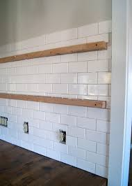Diy Tile Kitchen Backsplash Kitchen How To Install A Simple Subway Tile Kitchen Backsplash
