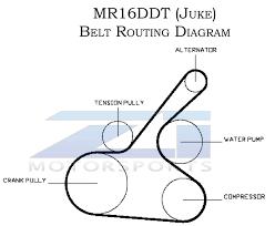 nissan juke exhaust upgrade oem juke mr16ddt drive belt z1 motorsports
