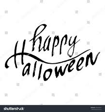 happy halloween hand drawn calligraphy letters stock vector