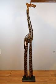Giraffe Floor L Overstock Carved From Jacaranda Wood And Painted By