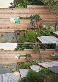 12 ideas for including built in wood planters in your outdoor