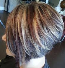 graduated short bob hairstyle pictures chic graduated bob hairstyle for women side view pin it