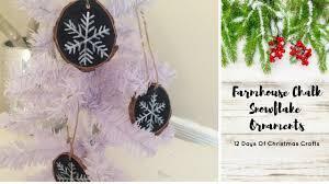 day 2 farmhouse wood snowflake ornaments 12 days of christmas