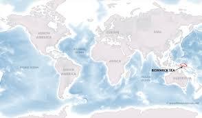 Europe On World Map by Bismarck Sea Map By Freeworldmaps Net