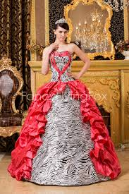 dresses for sweet 15 zebra and water melon gown floor length sweet 15 dresses at