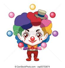 clowns juggling balls evil clown juggling colorful balls vectors illustration