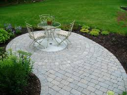 Patio Paver Kits Appealing Circular Patio Kits From Small Concrete Block