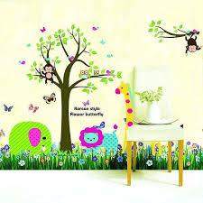 Etsy Wall Decals Nursery Jungle Animal Wall Decals Jungle Tree Wall Decal Jungle Animals