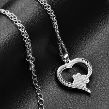 heart dog necklace images Hollow pet paw print necklaces cute animal dog cat memorial jpg