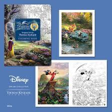 disney coloring book thomas kinkade company