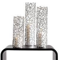 Candle Sconces Contemporary Silver Twig Pillar Candle Holders