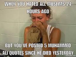 Racist Muslim Memes - stings like a bee imgur