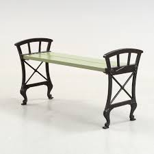 folke bensow a folke bensow cast iron and wood park bench