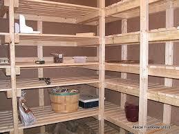 fabriquer une chambre froide chambre froide au sous sol plan rangement pour les conserves for