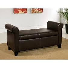 leather ottoman storage bench home design ideas and pictures