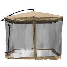 Outdoor Patio Gazebo by 9x9 U0027 Square Aluminum Offset Umbrella Patio Outdoor Shade W Cross